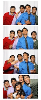 photostrip of students at prom