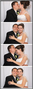 photostrip of bride and groom